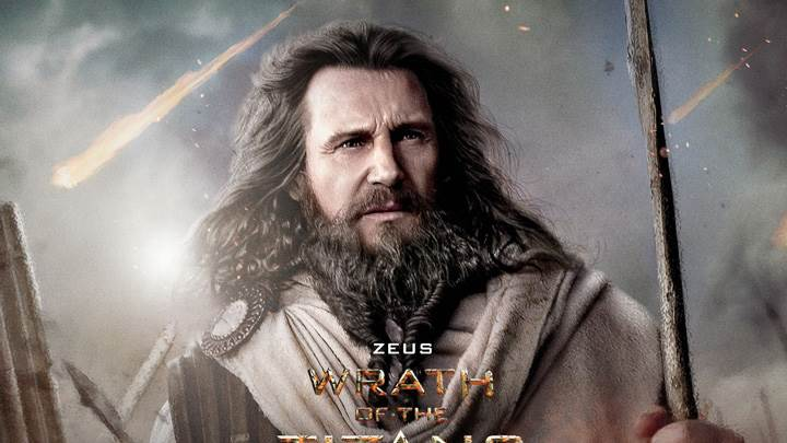 Wrath of the Titans – Liam Neeson As Zeus Sword In Hand